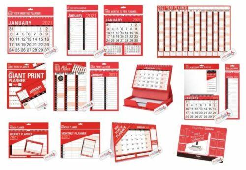 2021 Wall Calendar Home Large Slim Memo Organiser 3 Months View Office Planner
