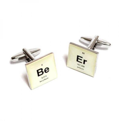 Rétro Periodic Table Bière design Boutons de manchette-x 2 bocs 158