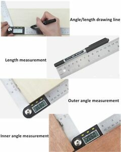 Rapporteur D'angle Exploit Analogique Digital 200mm Avec écran Lcd 0 - 360° Hoe4aij3-10043655-174931654