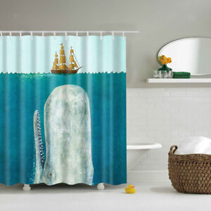 Image Is Loading Polyester Fabric Bathroom Shower Curtain Sheer Panel Decor