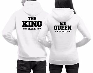 Das Bild wird geladen Paerchen-Pullover-The-King-His-Queen-Datum-Paare- 98717a0705