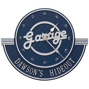 Personalized-Garage-12-034-Indoor-Outdoor-Wall-Clock