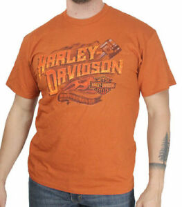 Piston Hd Modell In T Orange Shirt Harley Davidson w1pO00