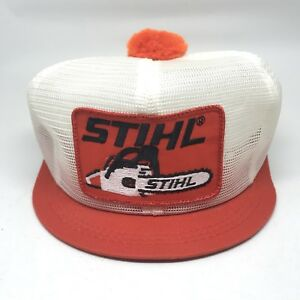 2d4c6e0c Image is loading Vintage-Stihl-Chainsaw-Patch-Pom-Pom-Snapback-Mesh-