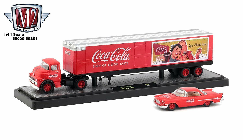 Coca Cola Christmas-Truck con illuminazione 1:43 MOTOR City CLASSICS modello di auto