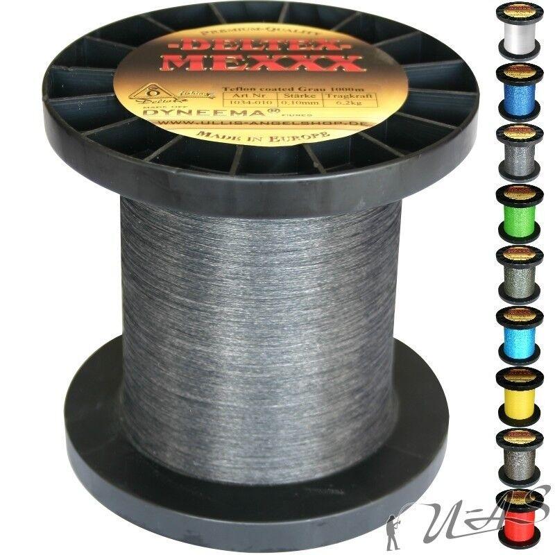 Deltex Mexxx Hi-Tec Rund Geflochtene Angel Schnur Teflon 0,40 1000M Grau Kva  | Optimaler Preis