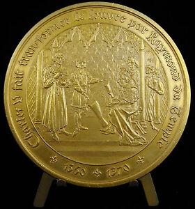 Medaille-263-1250-architecte-Raymond-du-Temple-Chateau-du-Louvre-Charles-V-medal