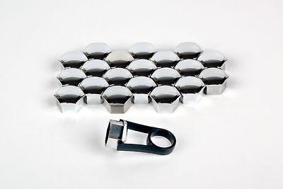 20 1 x Alloy Wheel Caps Bolt Covers for PEUGEOT 106 205 All 17mm Plastic Black.