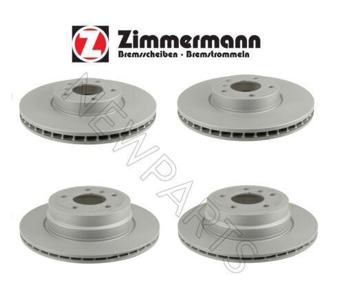 For BMW E70 E71 X5 X6 Front /& Rear Vented Brake Rotors Zimmermann Coat Z