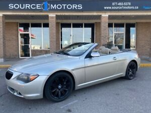2007 BMW 6 Series 2DR CONVERTIBLE* LOW KMS* V8* SUMMER READY!