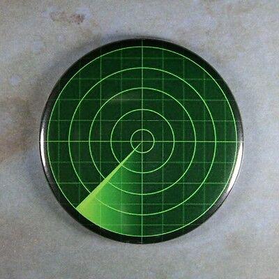 "Radar Screen Sign Fridge Magnet 2 1/4"" C-Scope Raster Scan Display"