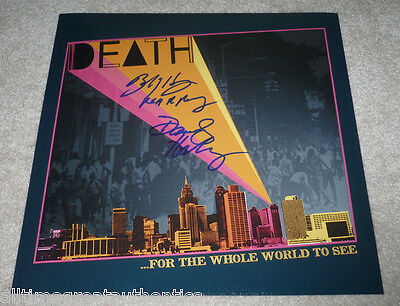 Photographs Painstaking A Band Called Death Signed 12x12 Record Flat Photo W/coa Bobby Hackney Dannis