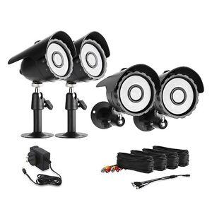 CCTV-Weatherproof-Color-IR-Outdoor-Security-Camera-Kit-black