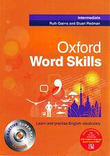 Oxford WORD SKILLS INTERMEDIATE Book w CD-ROM by Ruth Gairns Stuart Redman @NEW@