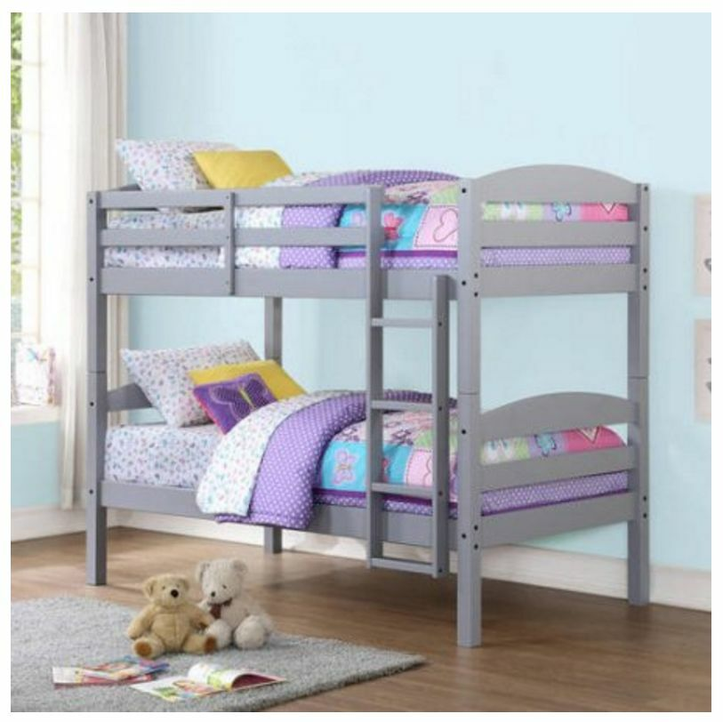 Twin Over Twin Bunk Beds For Boys Girls Kids Bunkbeds