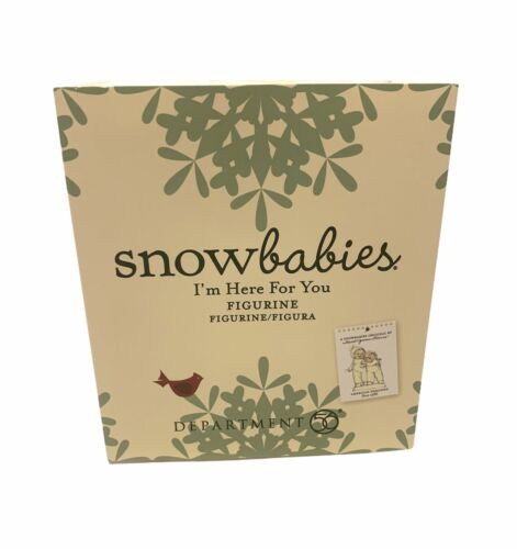 """4.4"""" NEW Department 56 Snowbabies """"I'm Here For You"""" Porcelain Figurine"""
