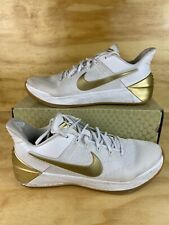 Nike Kobe A D Big Stage Mens 852425 107 White Gold Basketball Shoes Size 12 For Sale Online Ebay