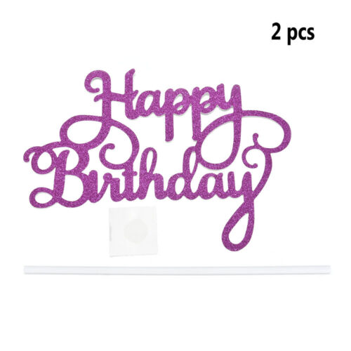 2pcs 2018 Fashion Happy Birthday Cake Topper Party Supplies Decorations Hot
