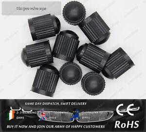 10x-Black-Plastic-Tyre-Tire-Valve-Alloy-Wheel-Dust-Caps-Cover-Car-Van-Bike-Truck