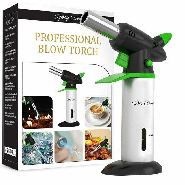 Spicy Dew Blow Torch - Creme Brulee Torch - Refillable Professional Culinary ...
