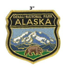 Sew-on National Park Badge Patch Alaska Travel State Park Embroidered Iron