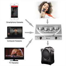 Karaoke Microphone Mixer Portable Home Music Singing External Sound Card(Silver)