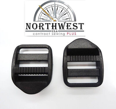 "10 each Ladder Lock Buckles, Strap Adjuster, For 3/4"" Webbing  Black"