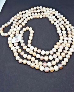Brand-New-Necklace-W-Genuine-7-8-5-mm-Freshwater-Pearls-weight-136-40g