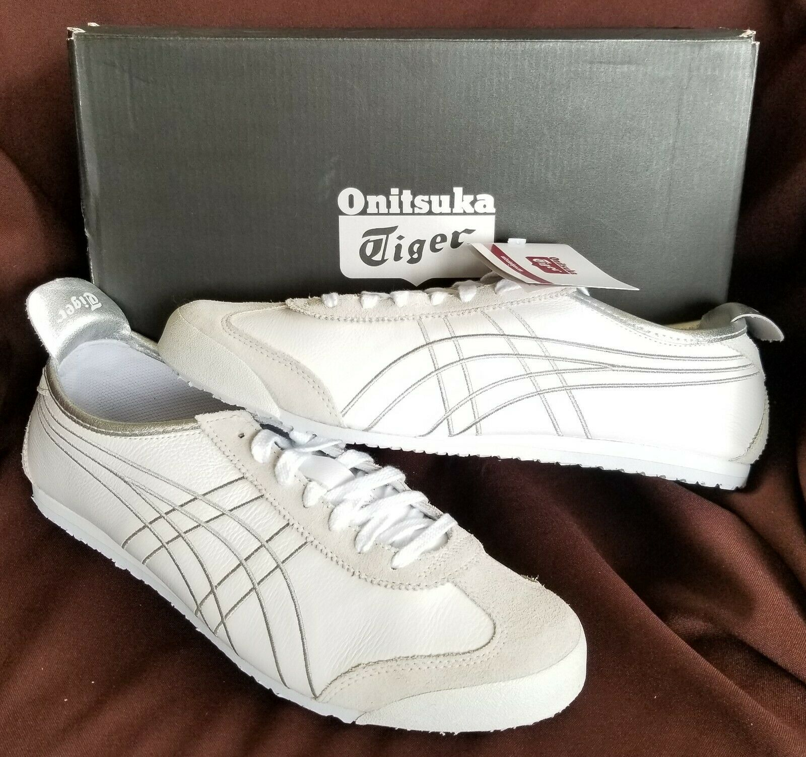 Asics Onitsuka Tiger Mexico 66 White Silver Retro Running shoes 1183A349-100