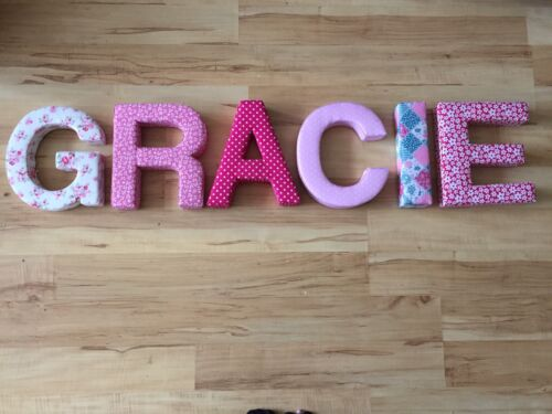 Fabric 3D Children/'s Letters Boys And Girls Names .Dispatched Within 3 Days