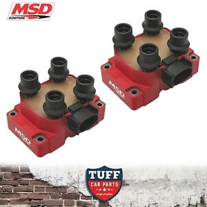 2-x-MSD-8241-High-Output-Ignition-Coil-Pack-AU-Ford-Falcon-5lt-302-V8-1998-2002