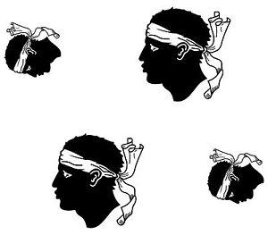 4x-sticker-Adesivo-Adesivi-decal-decals-Vinyl-auto-moto-bandiera-corsica-corse