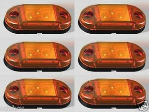 6x-4-LED-24V-INDICATORE-LATERALE-AMBRA-LUCI-PER-CAMION-RIMORCHIO-MAN-RENAULT