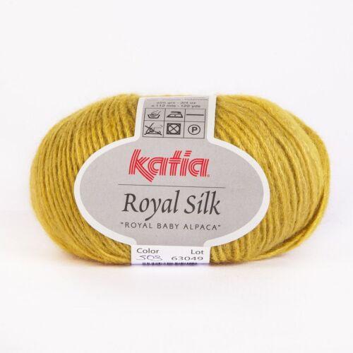 503 MOSTAZA - 25 g // ca ROYAL SILK von Katia 112 m Wolle
