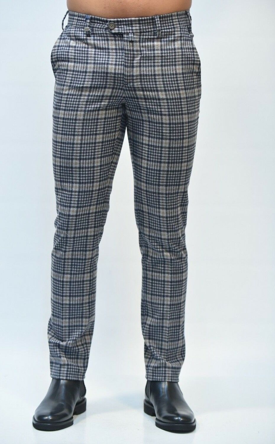 PANTALONE  - 50% BARBATI men  P-ALAN S 652 QUADRI AI 2018