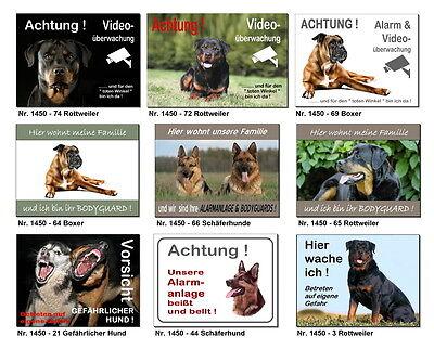 Boxer-Design-Schild-3 mm dick-3 Größen-Türschild-Warnschild-Hinweis-Hundeschild