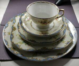 "Meito Fine China, Vintage ""Hudson"" Great 1st Starter Set Victorian 6 Pc.Setting"