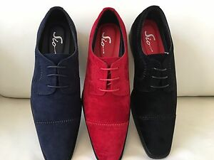 AMALI-Mens-Dress-Suede-PU-Shoes-Lace-up-Prom-Wedding-Tuxedo-Italian-Style-Shoes