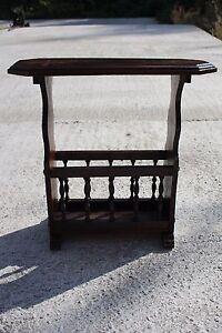 Massive-Wooden-Vintage-Magazine-Newspaper-Basket-Side-Table-Plant-stand-722