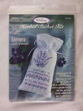 The Victoria Sampler Cross Stitch Herbal Sachet Kit Lavender Loyalty & Devotion