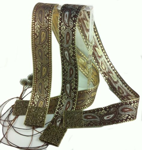 Belt Braid Paisley 2 Colors Designer BoHo Make Your Own Size Ausi Original WOW!!