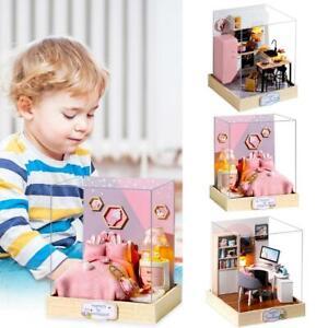 DIY-Doll-House-Wooden-Miniature-Dollhouse-Furniture-Kit-Educational-Toys