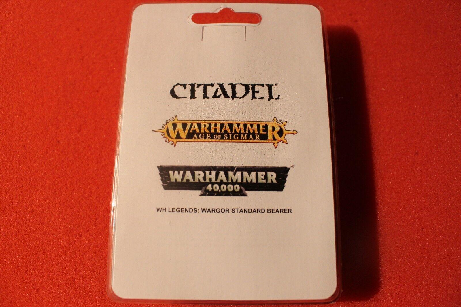 Games Workshop Warhammer Wargor Standard Bearer Icon Beastmen Limited Metal OOP