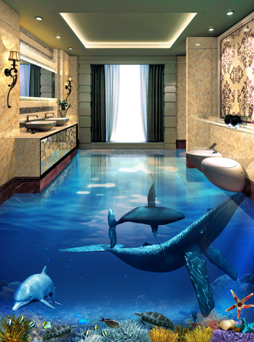 3D Marine Animal 724 Floor WallPaper Murals Wall Print Decal AJ WALL CA Carly