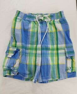 c224745787 Details about Mens Swim Shorts Old Navy Checkered Trunks Blue Yellow Board  Small
