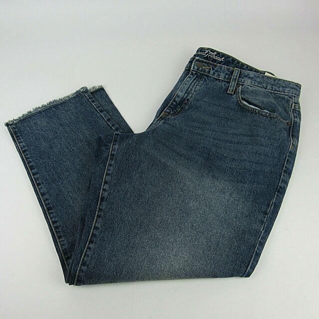 c7233caab9 Universal Thread Jeans Plus Size Raw Hem Blue Distressed Womens New