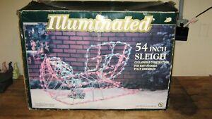 ILLUMINATED-54-034-SLEIGH-Christmas-Yard-Decor