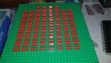 O Lego Lot 20 Red Window 1 x 2 x 2 w// Fixed Glass 7026