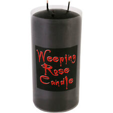 Tall Gothic Weeping Rose Black Triple Wick Candle Bleeding When Lit Candle