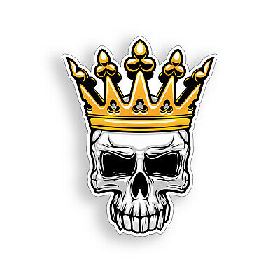 Crown Skull 3M vinyl  Decal Stickers Helmet Motorcycle Car Truck Window Laptop
